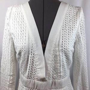 Nasty Gal White Mini Dress Size 10